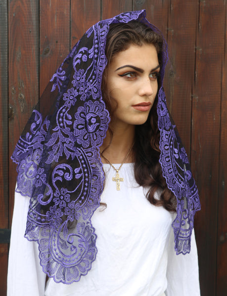 Lent/Advent Purple Mantilla - Di Clara Catholic Vestments and Gifts