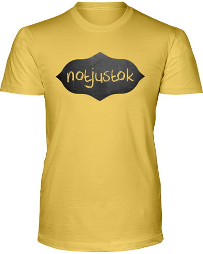 Yellow Notjustok Chalk Board Tee