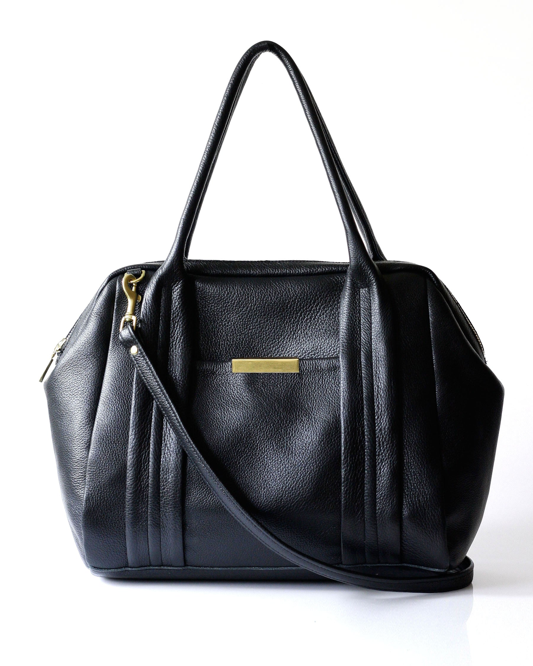 Liria Duffle - Opelle bag Permanent Collection - Opelle leather handbag handcrafted leather bag toronto Canada