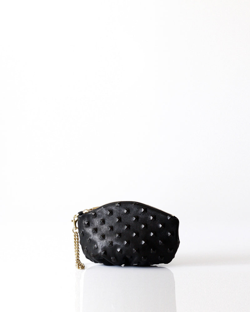 m Pochette | BLK Studded - Opelle bag Permanent Collection - Opelle leather handbag handcrafted leather bag toronto Canada