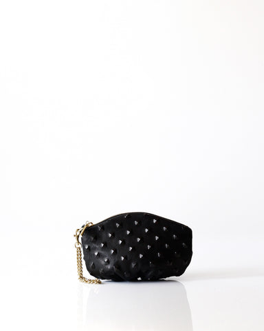 m Pochette | BLK Studded - Opelle bag FW16 - Opelle leather handbag handcrafted leather bag toronto Canada