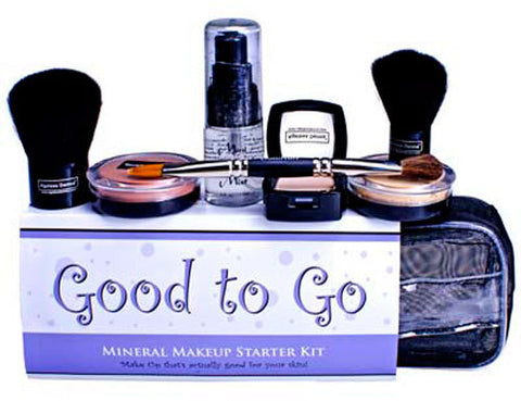 Ageless Derma Good to Go Mineral Makeup Starter Kit Dark