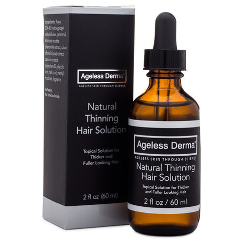 Ageless Derma Natural Thinning Hair Solution 2oz by Dr. Mostamand