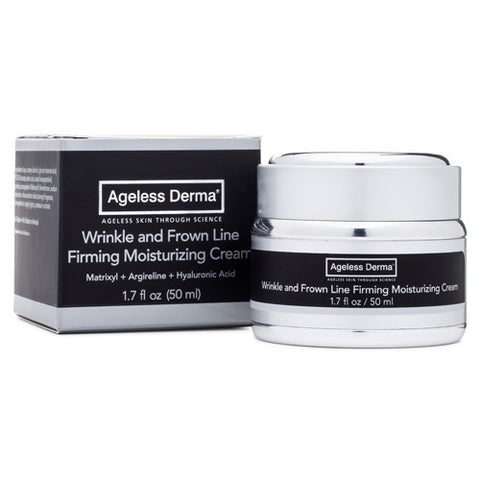 Ageless Derma Wrinkle and Frown Line Firming Moisturizing Cream 1.7oz