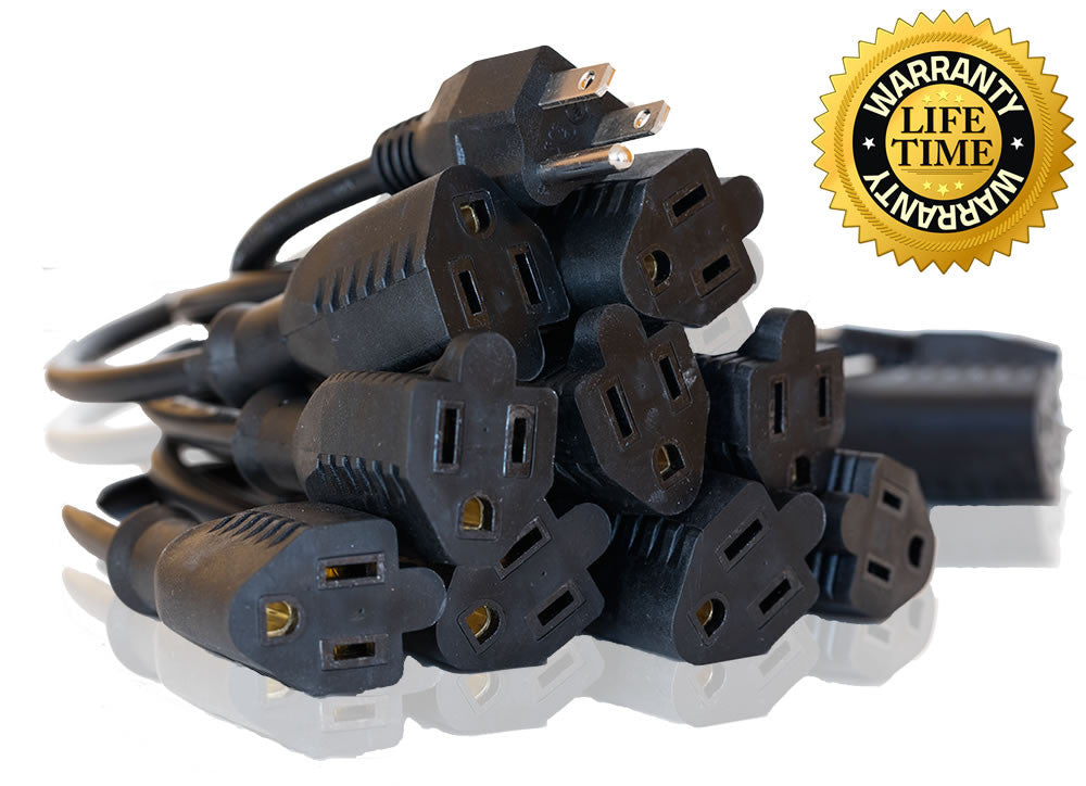 Home Power Products Power Cords Power Extension Cord Black Nema 5 15p