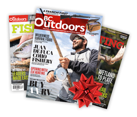BC Outdoors Magazine 1-Year Subscription PLUS BONUS KNIFE for Either Yourself or One of Your Gift Recipients!