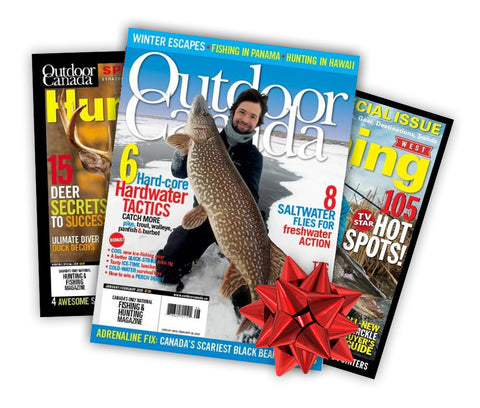 Outdoor Canada Magazine 1-Year Subscription PLUS BONUS KNIFE for Either Yourself or One of Your Gift Recipients!
