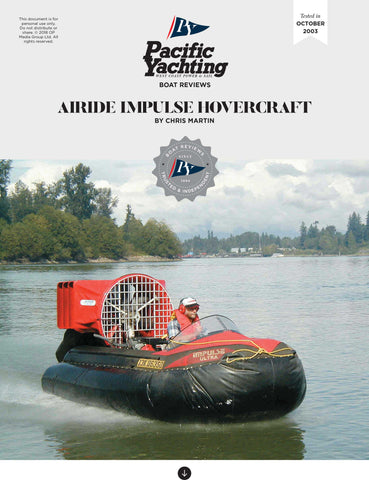 Airide Impulse Hovercraft [Tested in 2003]