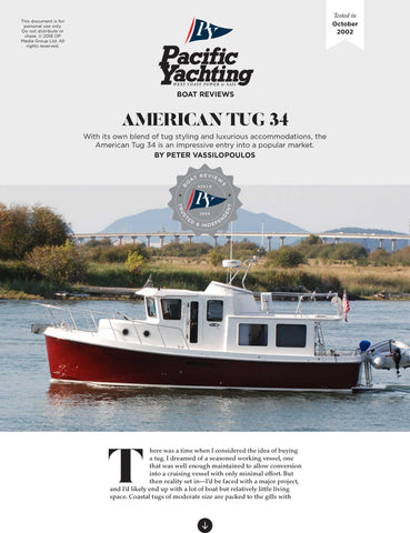 American Tug 34 [Tested in 2002]