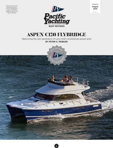 Aspen C120 Flybridge [Tested in 2015]