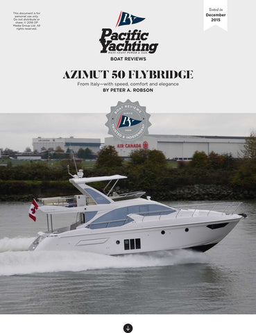Azimut 50 Flybridge [Tested in 2015]