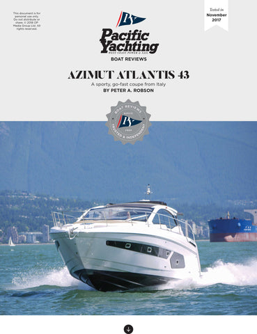 Azimut Atlantis 43 [Tested in 2017]