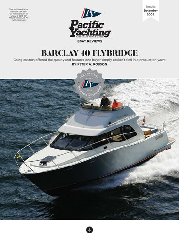 Barclay 40 Flybridge 44 [Tested in 2009]