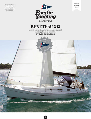 Beneteau 343 [Tested in 2005]