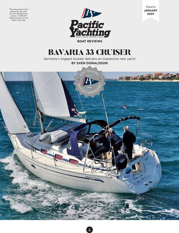 Bavaria 33 Cruiser [Tested in 2007]