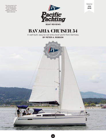 Bavaria Cruiser 34 [Tested in 2018]