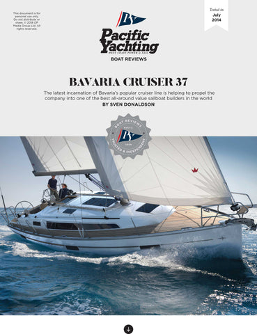 Bavaria Cruiser 37 [Tested in 2014]