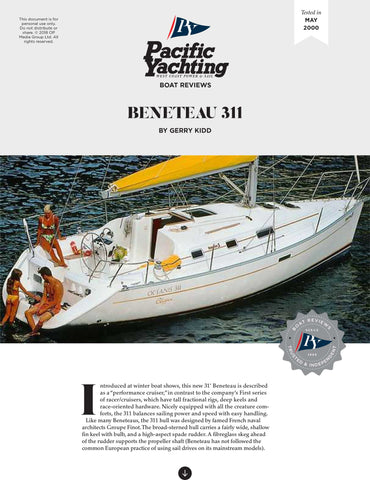 Beneteau 311 [Tested in 2000]