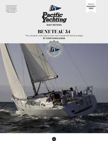 Beneteau 34 [Tested in 2009]