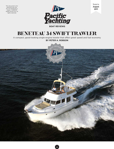 Beneteau 34 Swift Trawler [Tested in 2011]