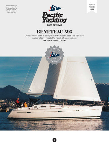 Beneteau 393 [Tested in 2003]