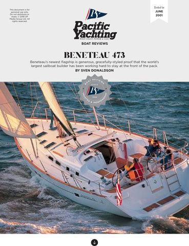 Beneteau 473 [Tested in 2001]