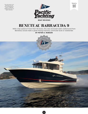 Beneteau Barracuda 9 [Tested in 2013]