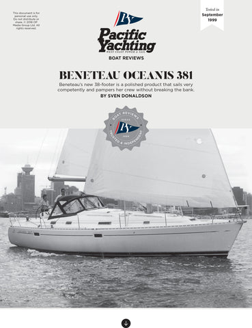 Beneteau Oceanis 381 [Tested in 1999]
