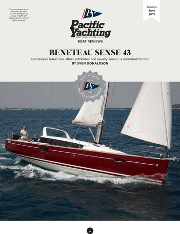 Beneteau Sense 43 [Tested in 2013]