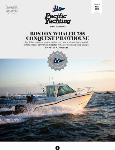 Boston Whaler 285 Conquest Pilothouse [Tested in 2012]