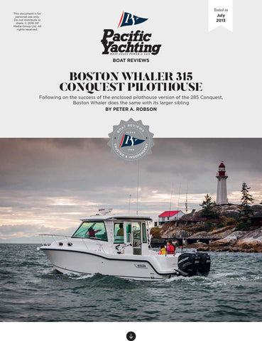 Boston Whaler 315 Conquest [Tested in 2013]