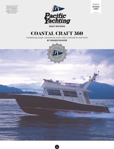Coastal Craft 360 [Tested in 2005]