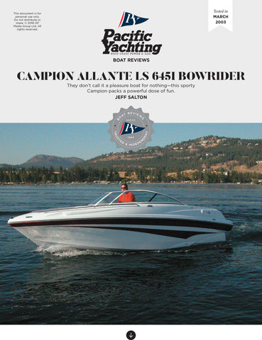 Campion Allante LS 645i Bowrider [Tested in 2003]