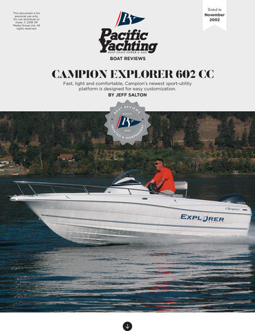 Campion Explorer 602 CC [Tested in 2002]