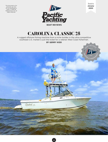 Carolina Classic 25 [Tested in 2000]
