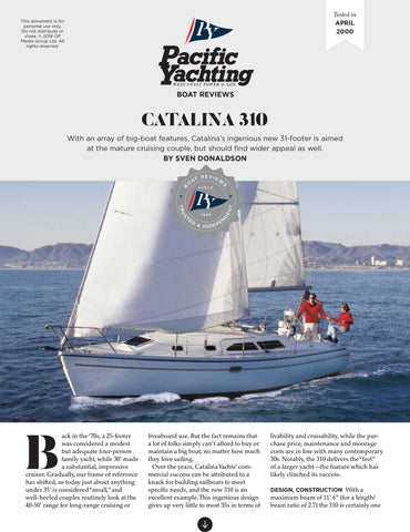 Catalina 310 [Tested in 2000]