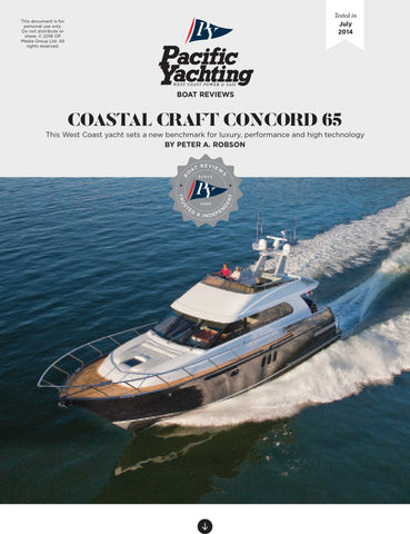 Coastal Craft Concord 65 [Tested in 2014]