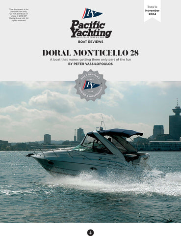 Doral Monticello 28 [Tested in 2004]