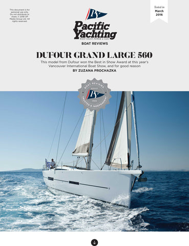 Dufour Grand Large 560 [Tested in 2016]