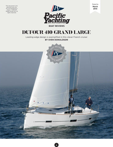 Dufour 410 Grand Large [Tested in 2014]