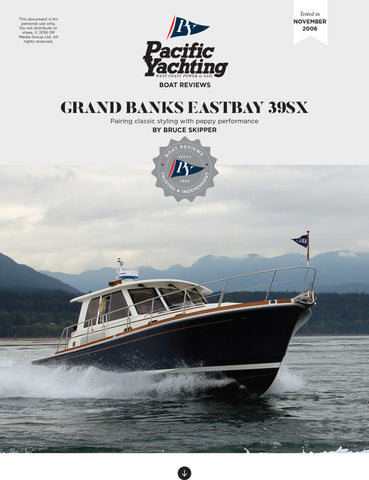 Grand Banks Eastbay 39SX [Tested in 2006]