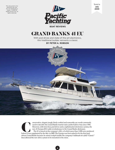 Grand Banks 41 EU [Tested in 2009]