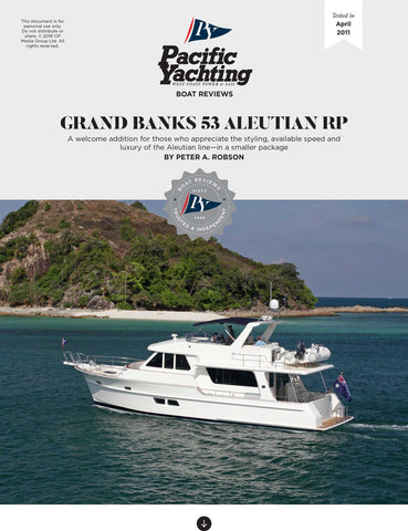 Grand Banks 53 Aleutian RP [Tested in 2011]