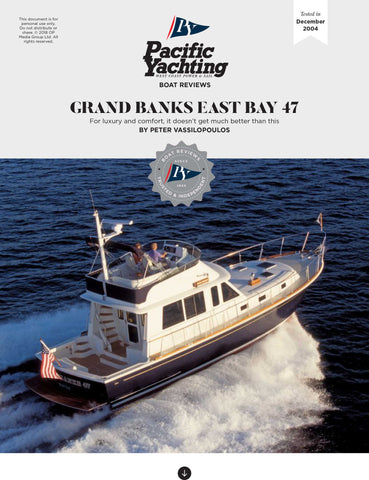 Grand Banks East Bay 47 [Tested in 2004]