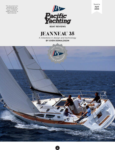Jeanneau 35 [Tested in 2005]