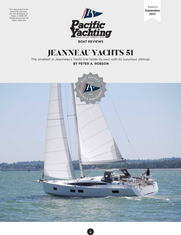 Jeanneau Yachts 51 [Tested in 2017]