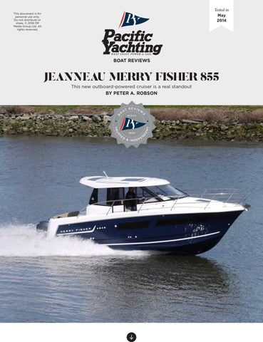 Jeanneau Merry Fischer 855 [Tested in 2014]