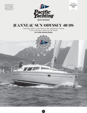 Jeanneau Sun Odyssey 40 DS [Tested in 1999]