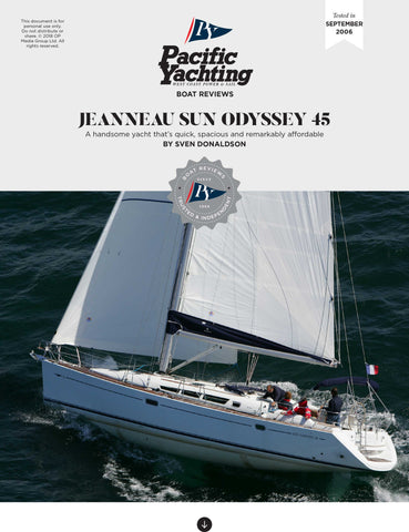 Jeanneau Sun Odyssey 45 [Tested in 2006]
