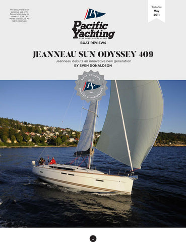 Jeanneau Sun Odyssey 409 [Tested in 2011]